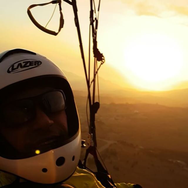 Sunset flight 🤘😎  livelovebeirut  paraglidinglife  paragliding ... (The Cedars, Lebanon)