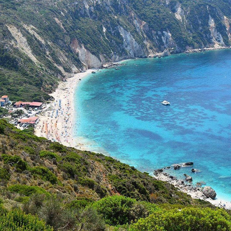 Another amazing beach 💙Petani Kefalonia .... wow_planet ... (Petani Beach Kefalonia)
