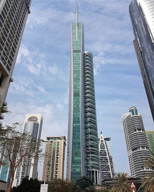 ... Just a Lovely Tower (JLT) 😊😆------.. photography photooftheday ... (Jumeirah Lakes Towers)
