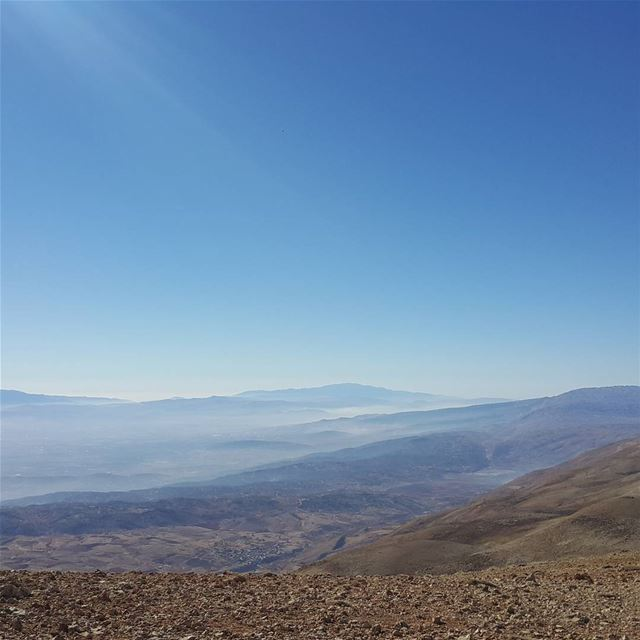 The 101 kms separating two of the highest  tops of the Middle East; Mount...
