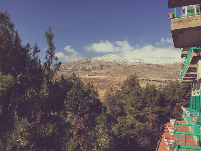 Good morning🏔 - Chtoura 04.12.16 lebanon intimacy bekaa chtoura ... (Jdita, Béqaa, Lebanon)