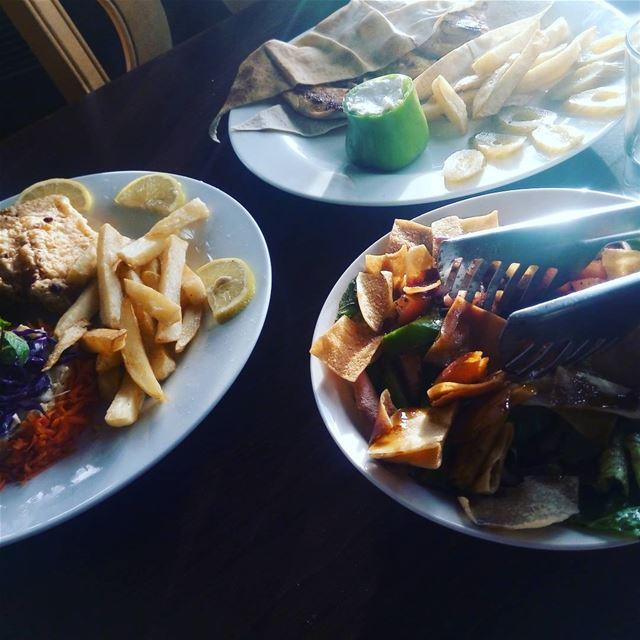 kasseralamira shouf lebanesedish lebanon food fattoush eat шуф ливан фатуш (Kasser Al Amira)