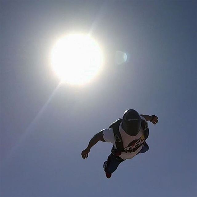 Sun Jump 😛... Beats the hell out of the balloon 😂  skydiving  skydive ... (Skydive Dubai)