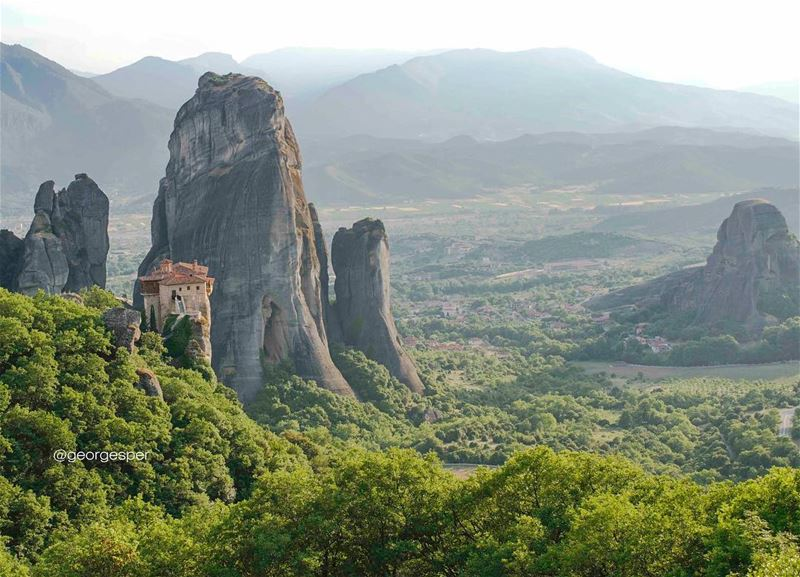 """Traveling: it leaves you speechless, then turns you into a storyteller"" -... (Meteora-Kalampaka Greece)"