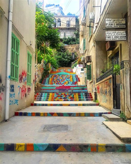 Morning colorful and joyful Beirut 🌈 [08.2016] ...One of my favorite... (Beirut, Lebanon)