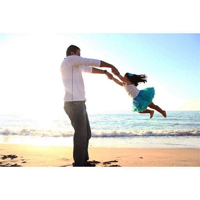 I will hold you forever💙💙 photoshoot photosession dadanddaughter ... (Beirut, Lebanon)