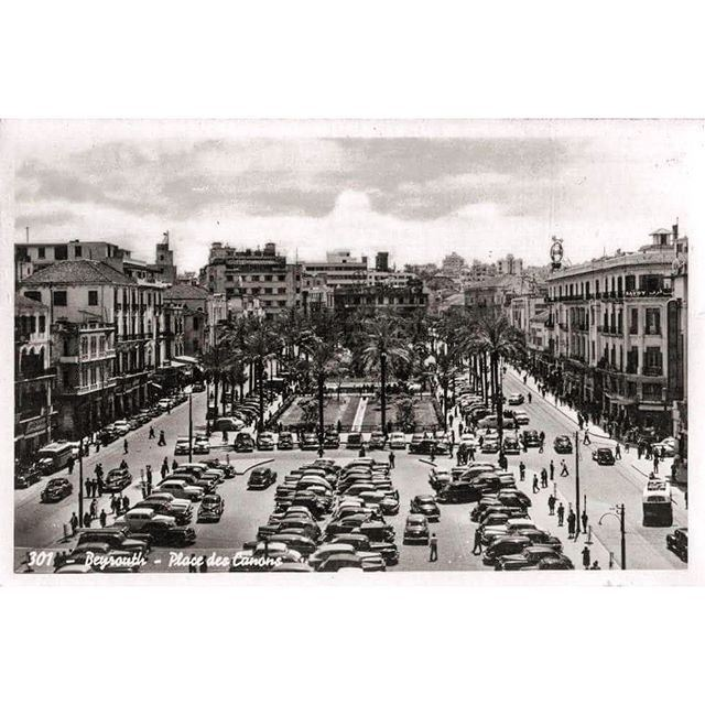 Beirut Martyrs Square in 1954 .