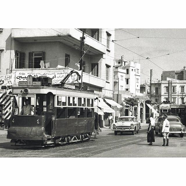 TramwayBeirut Basta in 1961 .