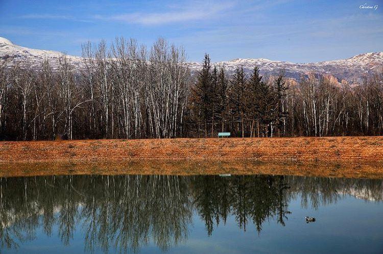 Peace is always beautiful 🍂 a7labaladbil3alam photo love reflections ... (Taanayel Lake)