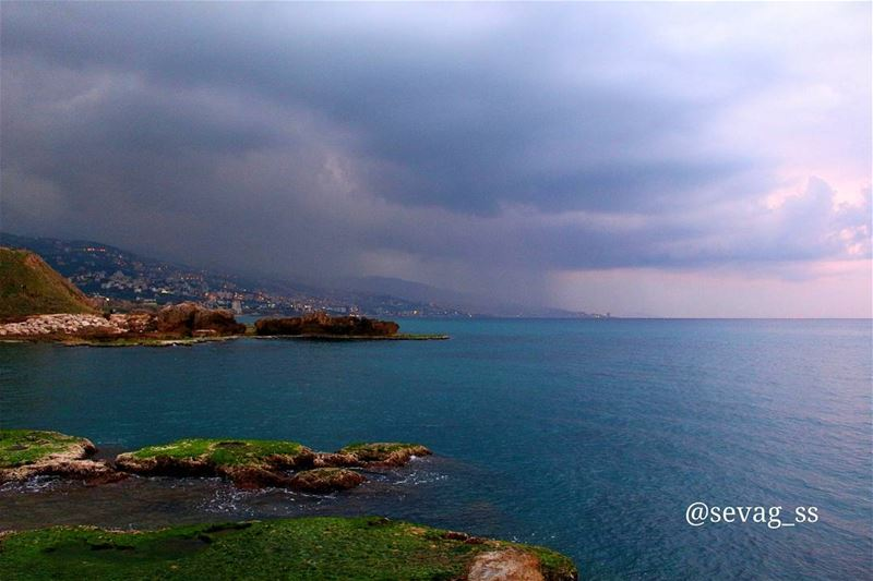 sunset  beach  beautiful  clouds  sunset_madness  boat  jbeil  byblos ... (Byblos - Jbeil)