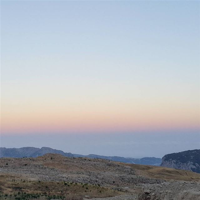 The contrast, the charm, the serenity dawn tannourine mountains ...