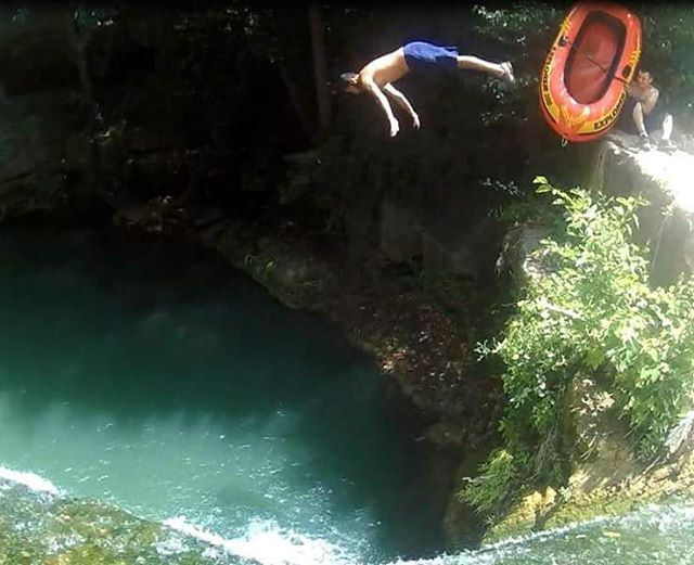 Get off my ship ! 😂 jump waterfall river trailslife heaven amazing...