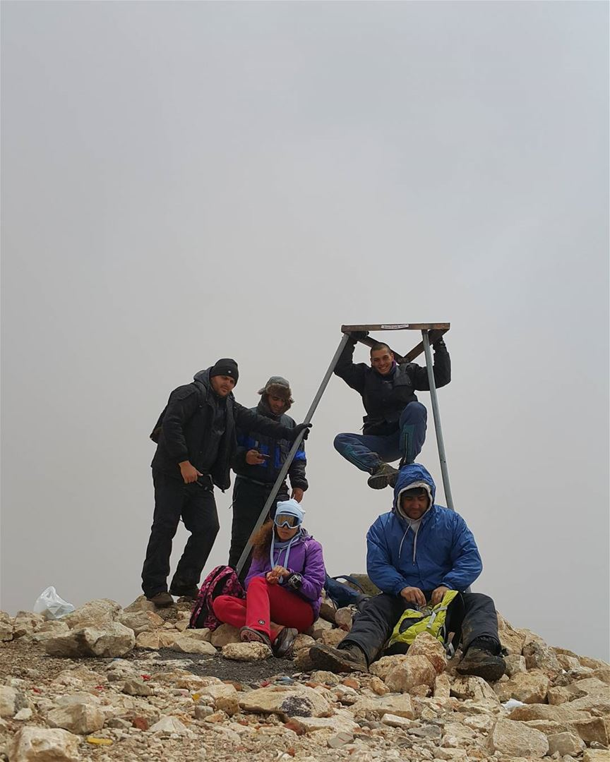 On top of the middle east The 3088m on a snowy summer day naturelovers ...