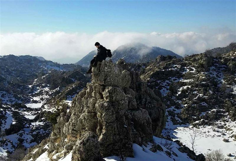 amazingview winterishere snow hiking lebanon hikingtrails ehmej ...