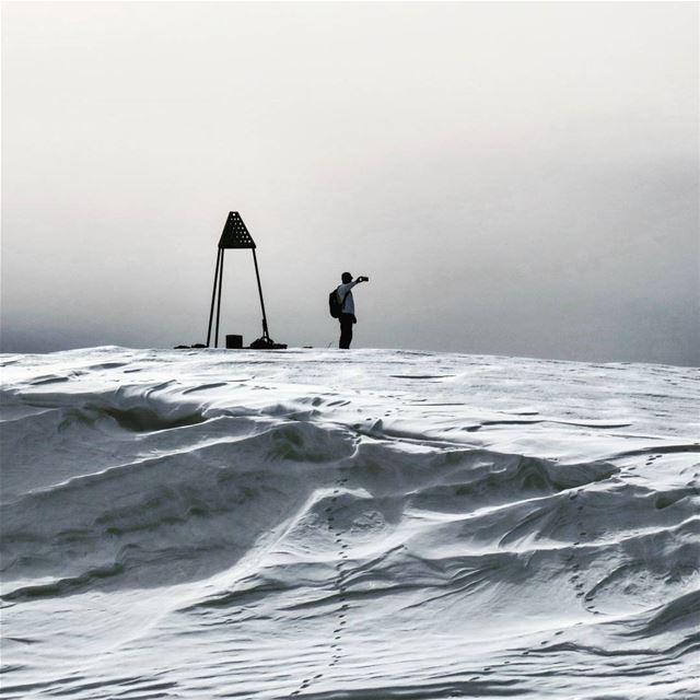 Documenting the achievement ❄🚶💪. hike peak summit hiker winter ...