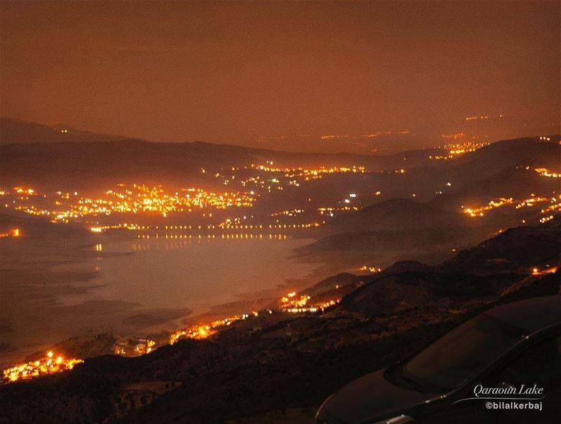 Midnight slience at Qaraoun lake--------------------------------Photo...