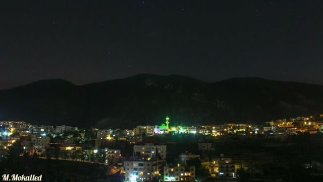 Made my new timelapse here showing startrails above the shining view of my... (Arabsalim, Lebanon)