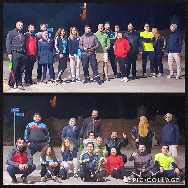 keep walكing team 🇱🇧💪After 11km of uphill walking Elevation gain 500m... (Baabda District)