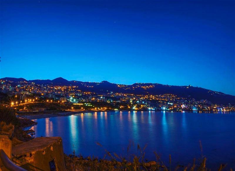 jounieh longexposure Lebanon night sunrise ... (Jounieh - Harissa)