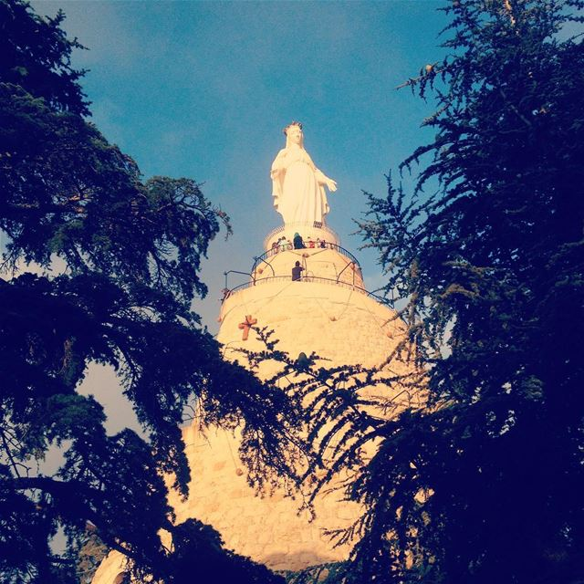 Always watch over us and protect us. spiritual  faith  faithful  god ... (The Lady of Lebanon - Harissa)