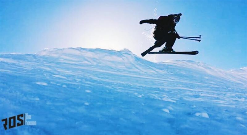 Return of the dark knight 🦇 @sleimandouaihy batman darkknight ... (Mzaar Kfardebian Ski Resort)