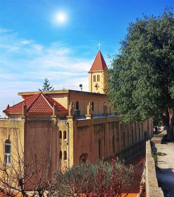 Mar Geryes Church - Kfour 😍 lebanon nature naturelovers natureporn ... (El Kfour, Mont-Liban, Lebanon)