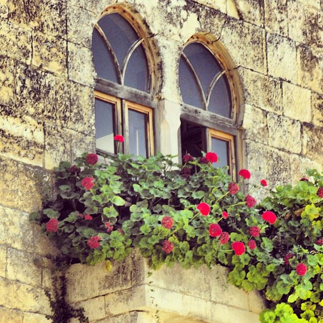 lebanese  typical  old  windows  beiteddine  palace  lebanon ...
