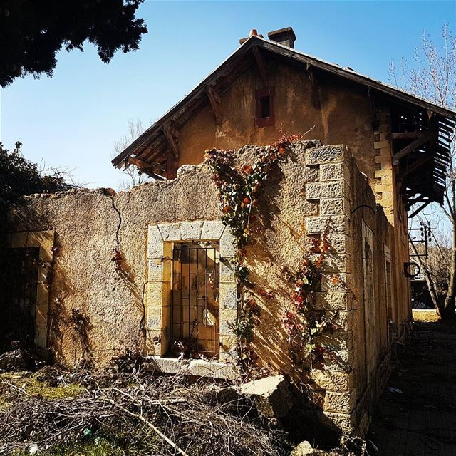 Old train station in saoufar on the railway from Beirut to Houran.... (Sawfar, Mont-Liban, Lebanon)