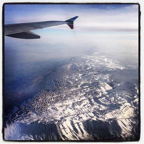 cedars from above sky snow mountains plane goodbye ...
