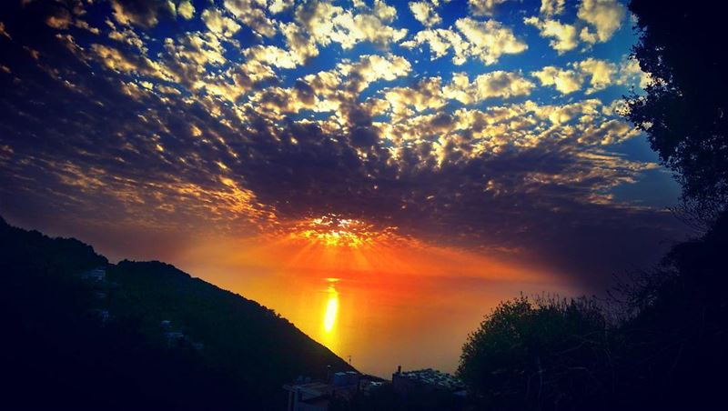 amazingsunset beautifulsunset sunset beautiful nature instagram ... (Lebanese Forces HQ Maarab)