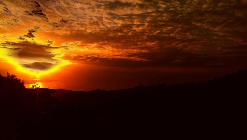 Fire Sunset firesunset sunset nature fire clouds tramonto sky ... (Dar3oun)