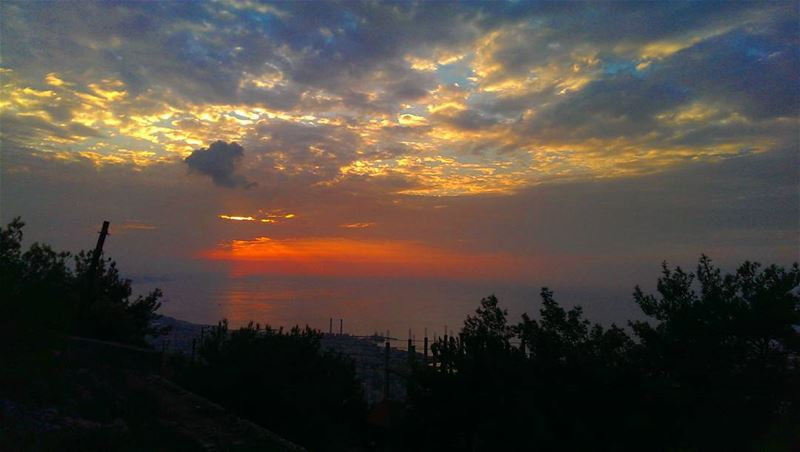 beautiful nature sunset love clouds blue life summer beauty ... (حريصا سيدة اللبنان)