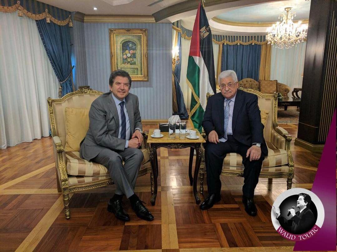 لدى زيارتي لفخامة الرئيس الفلسطيني محمود عباس اليوم في مقر إقامته ببيروت تض (Beirut, Lebanon)