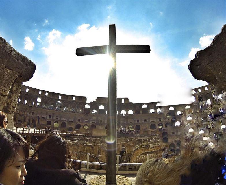 ما تصوم كأنك محروم,ما تصوم لأنك مرغوم,صوم لأنك مرحوم,صوم لأنك مغروم بيسوع ا (Rome, Italy)