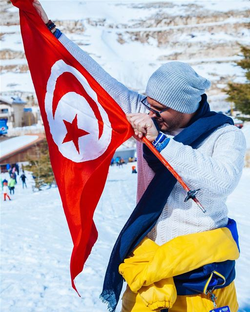 I Miss ❤️ 🇹🇳 Tunisia Tunisian Flag Lebanon Snow Winter Cold ... (Faraya, Mont-Liban, Lebanon)