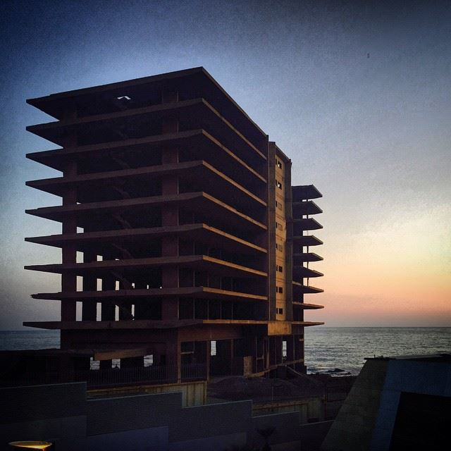 structure  building  architecture  archleb  beirut  sunset  lebanon ...