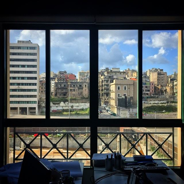 windows from my window Beirut lebanon Sunday morning architecture... (Consolidated Consultants Lebanon)