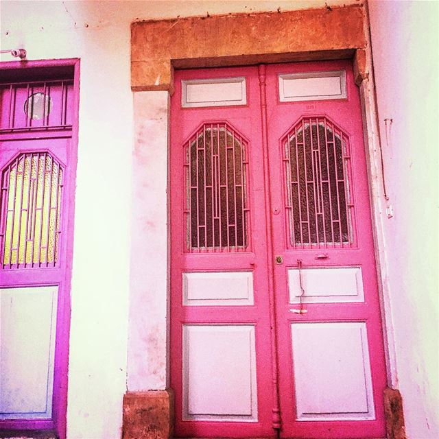 Pastel doors 💜💖 livelovebeirut ... (Mar mikheal)