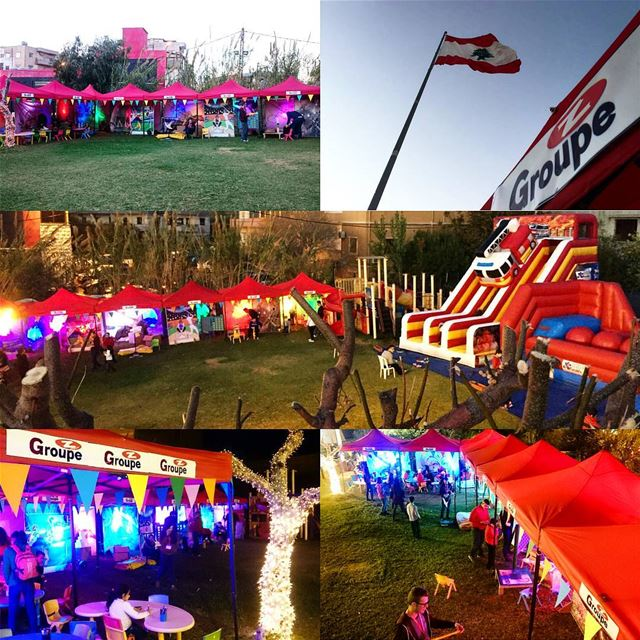 Groupe Z at @batrouniyat See you today  groupez  kermesse  inflatable ... (Batrouniyat)