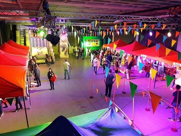 Private event by Groupe Z birthday  kermesse  inflatable  groupez ... (Concrete 1994)
