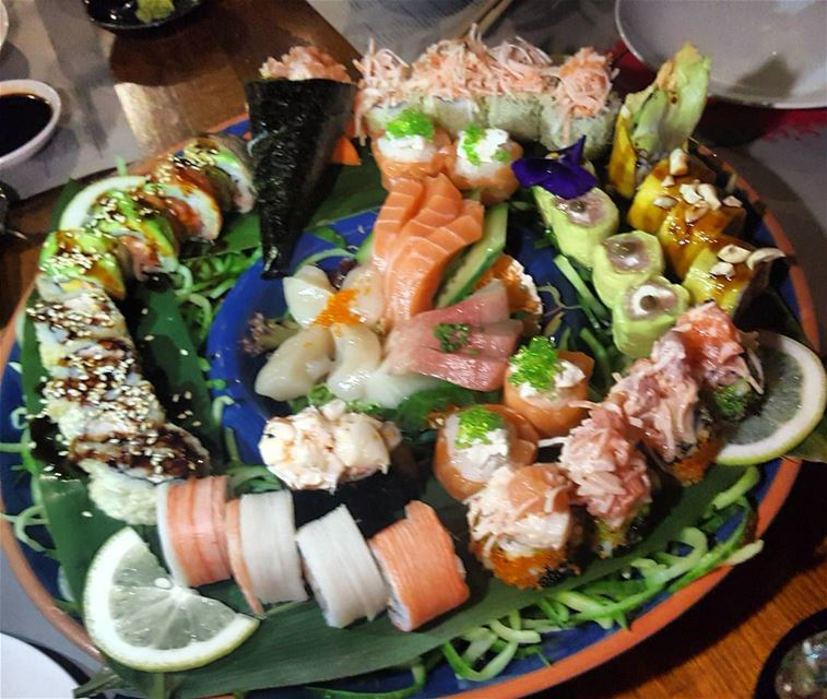 best sushi decoration and very tastyfood tsushi lebanon beiruting ... (Tsushi Restaurant)