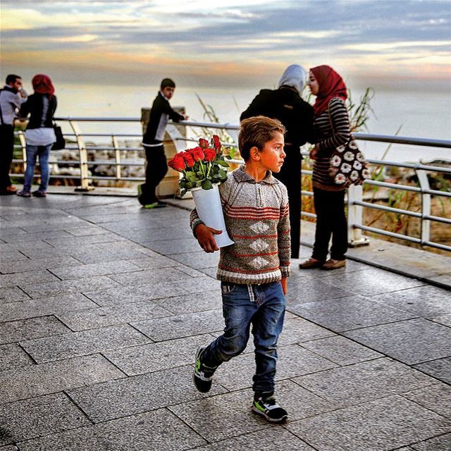 Photo captured by Associated Press last winter in raouche -Beirut 🌹🇱🇧...