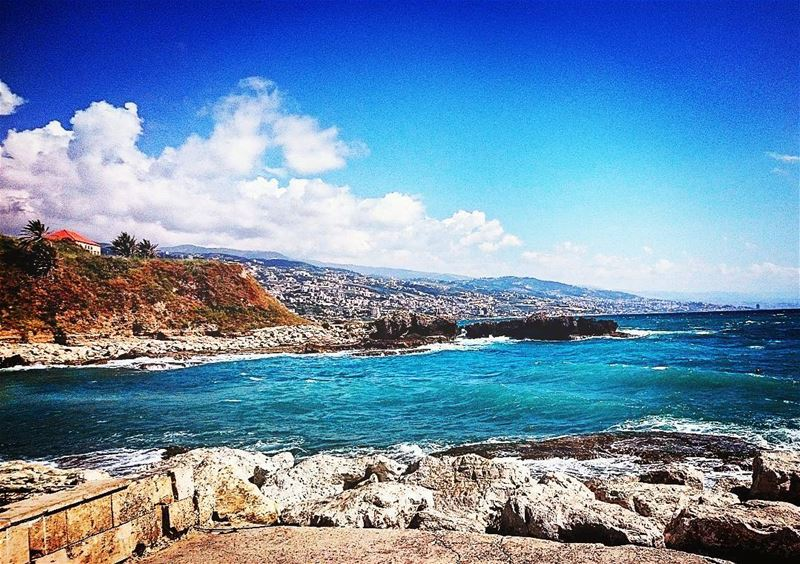 Mountains and sea from jbeil port 🏔🌅 lebanon lebanese beirut beirute... (Byblos - Jbail بيبلوس/جبيل)