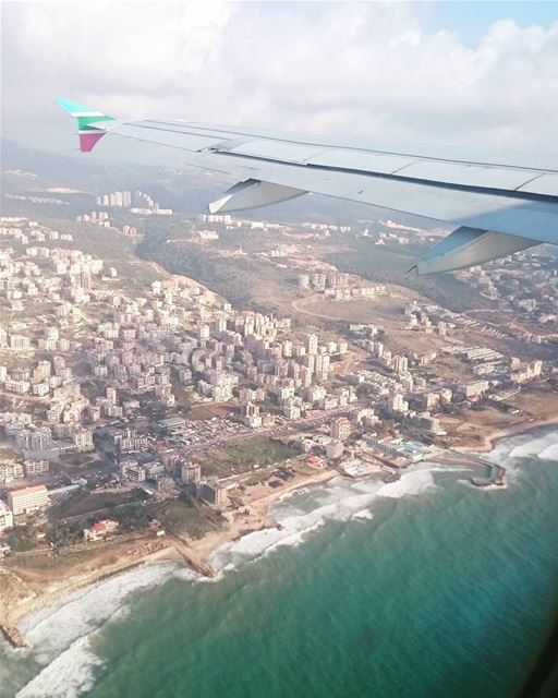 Lebanon from the sky 🛫 lebanon Beirut beirute beiruting khalde لبنان (Khaldah, Mont-Liban, Lebanon)