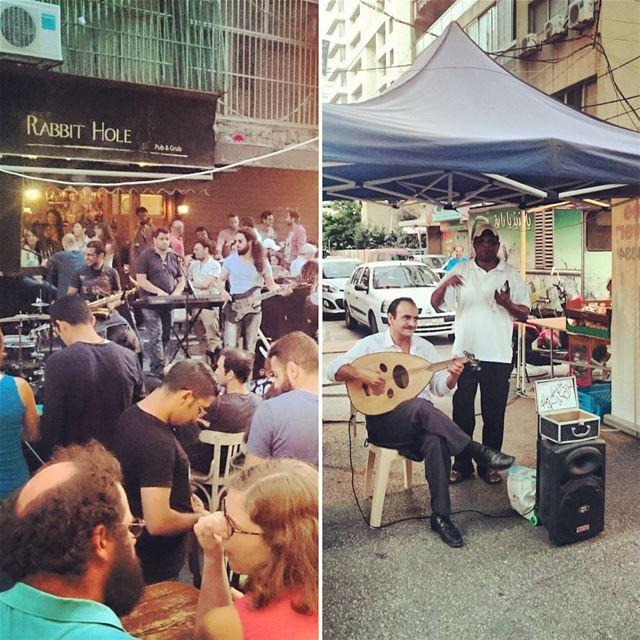 Makdessi festival yesterday 🎼🎙🎤 lebanon Beirut beirute beiruting بي (Rue Makdessi)