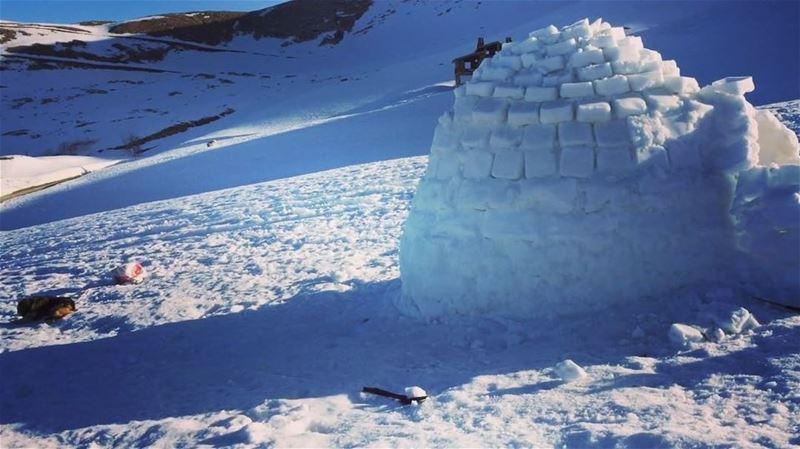 Waking up to this! ❄️🗻 snow snowflake snowfreak igloo bekich ... (Kanat Bekish)
