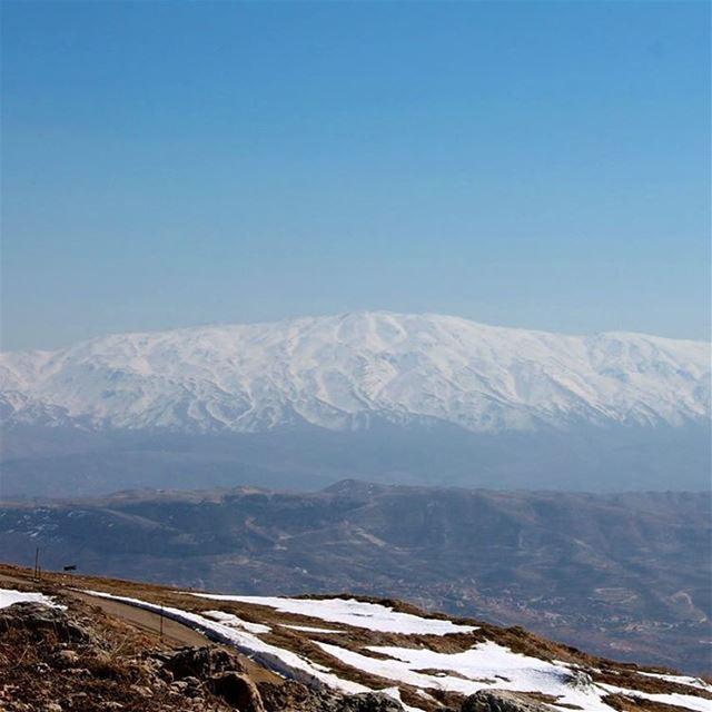 Mount Hermon as seen from Mount Barouk... lebanon lebanontraveler ... (Al Shouf Cedar Nature Reserve)