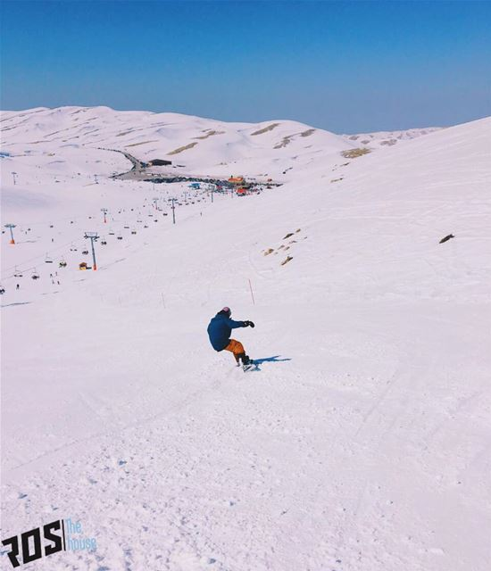 All the way to the parking lotttt 🚗. parkinglotviews  wedontdrive ... (Mzaar Kfardebian Ski Resort)