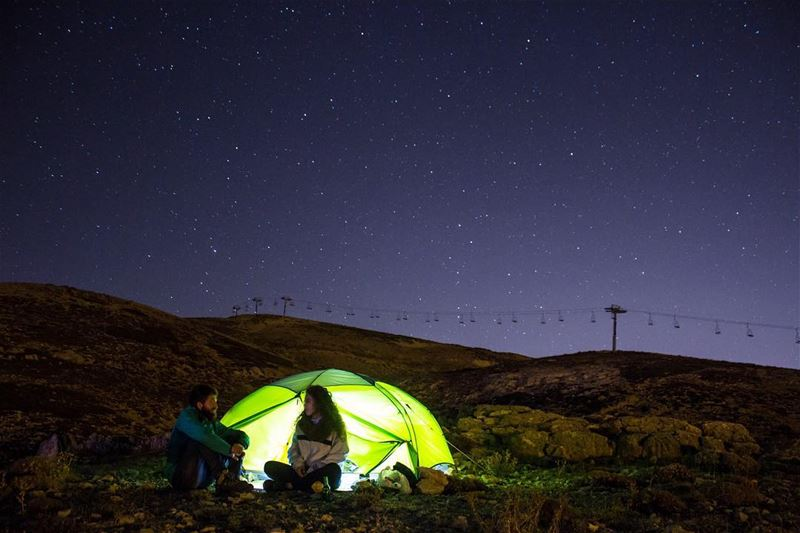 Time camping isn't spent, it's Invested ⛺️🌌.. lebanon camping ...