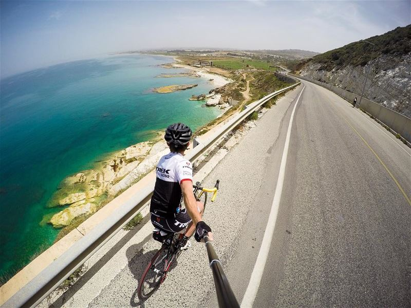 For a minute, I thought i was in Cyprus 🚴🏻🇨🇾.. cycle  cyclist ... (Rosh Hanikra - Lebanon Border)